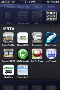10 bucks' worth of MBTA apps on my iPhone