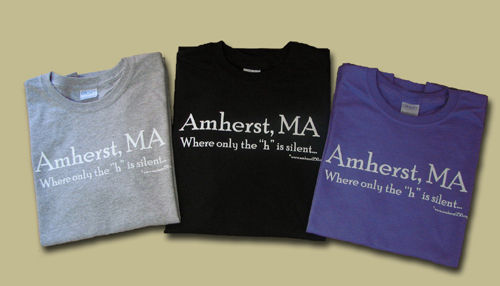 These T-shirts are for sale at Amherst250.org.