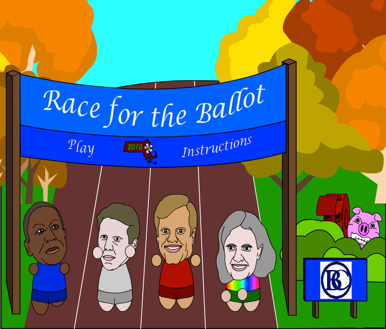 Becker College students designed a video game for the Massachusetts governor's race.