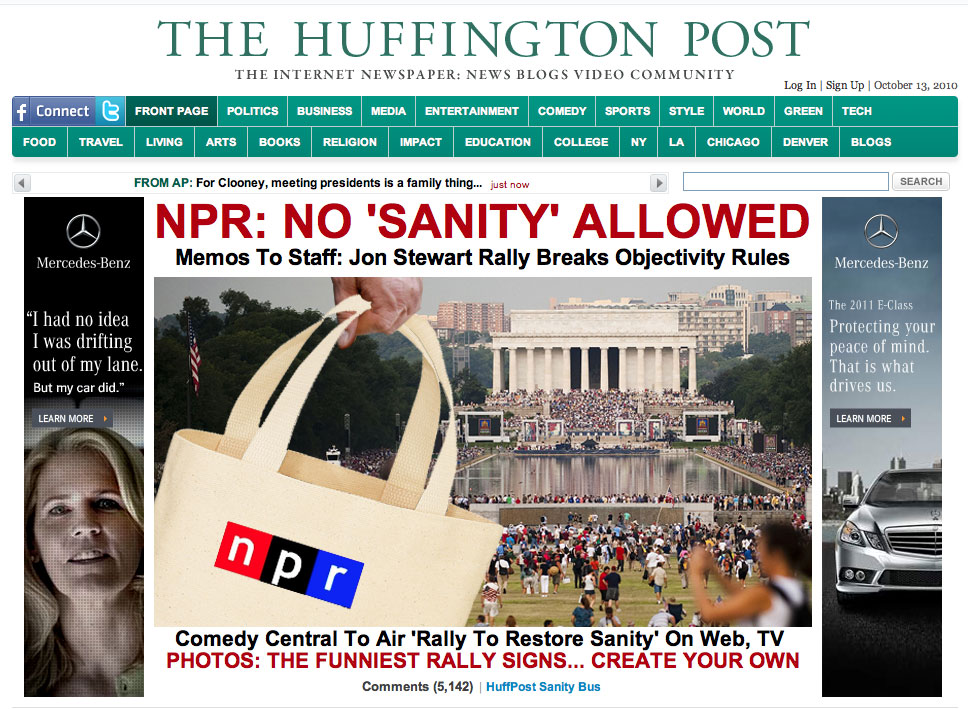 The Huffington Post made hay of NPR's directive.