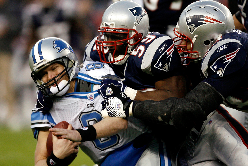 The Patriots aren't just hungry for Turkey on Thanksgiving. They eat QBs, too. (AP)