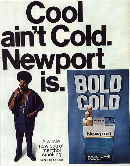The plaintiffs said Newport ads like this one targeted young, black smokers.