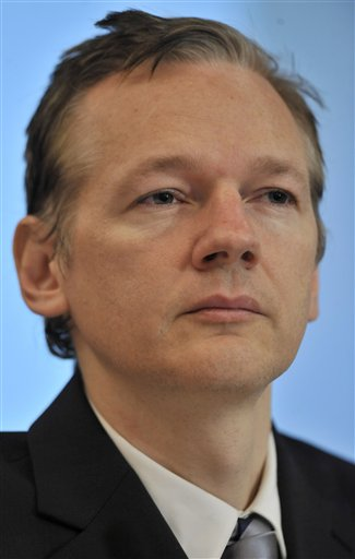 Julian Assange in October (AP)