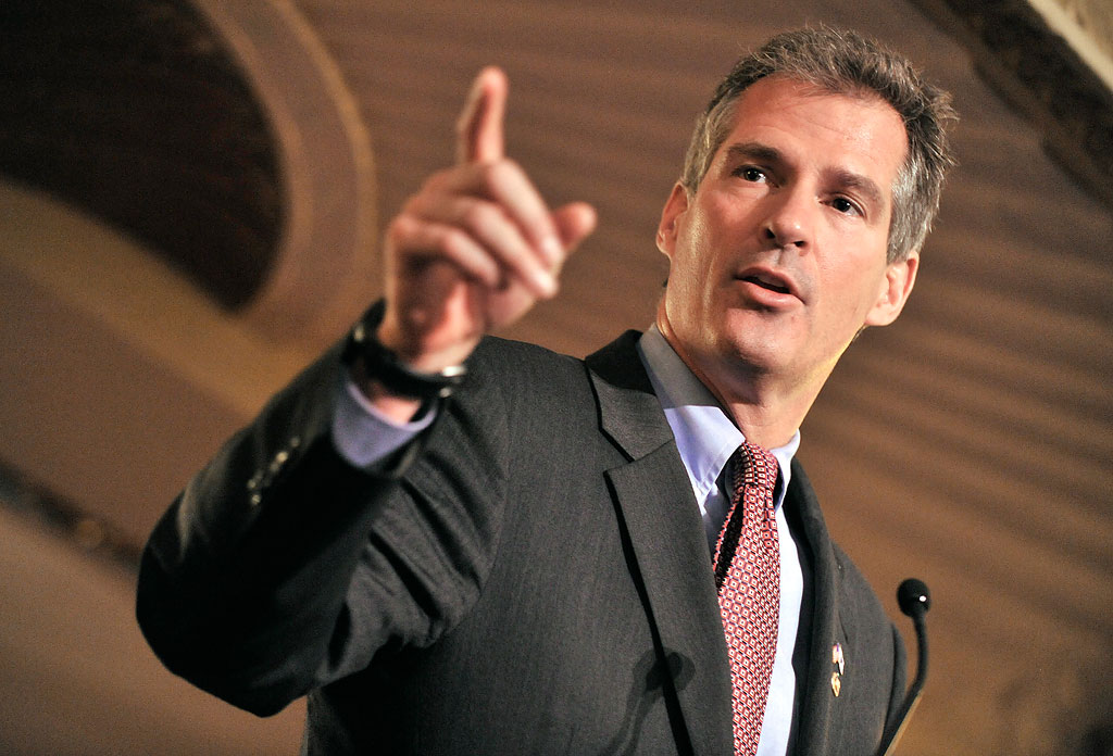 Sen. Scott Brown in November (Josh Reynolds/AP)
