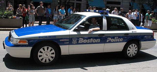 Boston Police car (fruitflavor/Flickr)