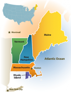 Discover New England's map of New England
