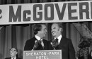 Sen. George McGovern and R. Sargent Shriver in Washington on Aug. 8, 1972, after the Democratic National Committee endorsed Shriver as the new vice-presidential nominee. (AP)