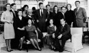 Then President-elect John F. Kennedy is surrounded by members of his family in his parents' home in Hyannisport in December 1960. Standing, left to right Mrs. Robert Kennedy; Steven Smith and wife, Jean Kennedy; Robert Kennedy; sister, Patricia Lawford; Sargent Shriver, brother Ted's wife, Joan; and Peter Lawford. Foreground, left to right: Eunice Shriver, a sister; Joseph Kennedy, his father, with Mrs. Kennedy seated in front; Mrs. John F. Kennedy; and brother Ted Kennedy. (AP)