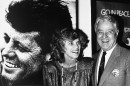 Sargent Shriver and his wife, Eunice Kennedy Shriver, celebrated the 25th anniversary of the Peace Corps in 1986 at the John F. Kennedy Presidential Library in Dorchester. (Elise Amendola/AP)