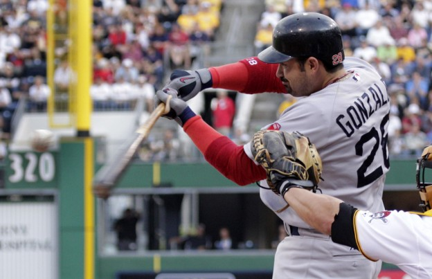 Adrian Gonzalez has had an MVP-caliber first half of the season for the Red Sox. (AP)